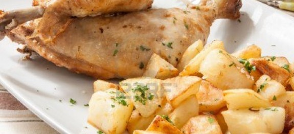 Frango com batatas