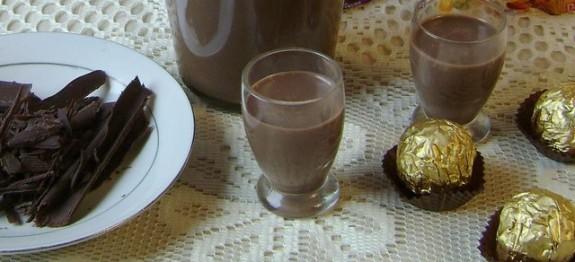 Receita Licor de chocolate